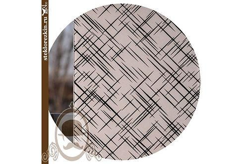 Зеркало узорчатое «Лабиринт диагональ» (Бронзовое)