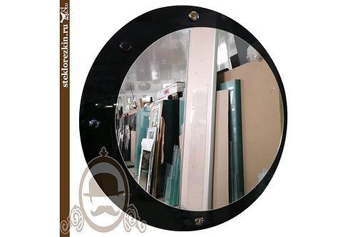 Зеркало №101 круглое с чёрным глянцевым стеклом Lacobel | Купить | Изготовить | Мои размеры | Стекло и Зеркала | Брянск