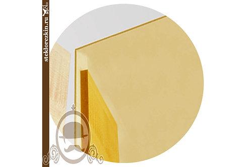 Зеркало листовое золотое жёлтое резка в фасады двери шкафы | Для мебели | Вырезать под размер | Стекло и Зеркала | Брянск