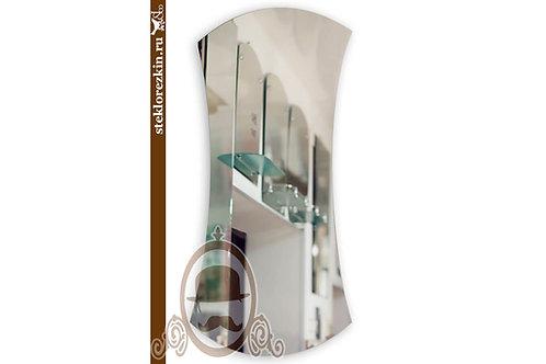 Зеркало №154 приталенное с боков и выпуклое сверху снизу | Купить | Стеклорезка недорого вырезать | Стекло и Зеркала | Брянск