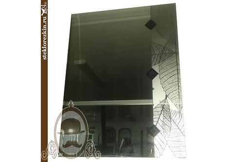 Зеркало №49 (Листья, серебро)