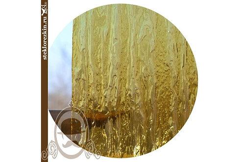 Стекло рифлёное рельеф Водопад золото, жёлто-золотое | Резка под размер | Для двери, фасада | Стекло и Зеркала | Брянск