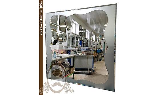 Зеркало №170 (Сатин с фацетом, серебро)