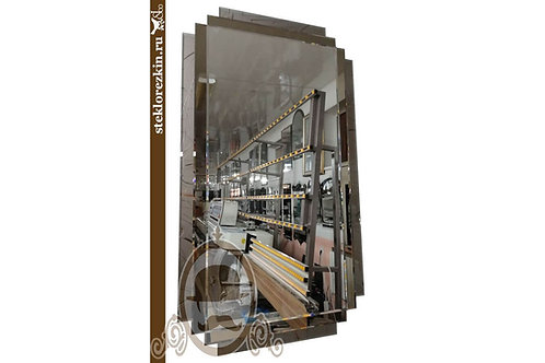 Зеркало №52.1 «Пиксель 1» (Парус серебро, бронза)