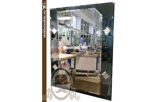 Зеркало №123 для ванной прихожей с фацетом на графитовом графитовый | Купить | Заказ мой размер | Стекло и Зеркала | Брянск