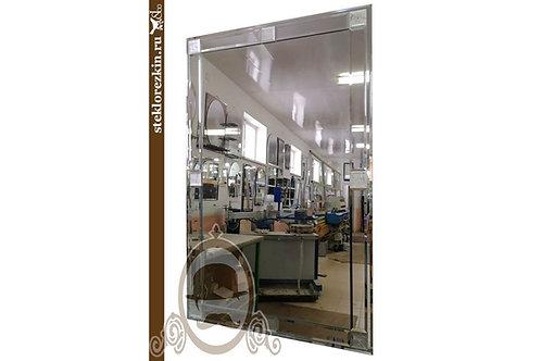 Зеркало №99 прямоугольное с декором из серебрянного зеркала в прихожую | Купить | По моим размера | Стекло и Зеркала | Брянск