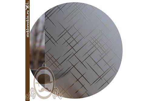 Стекло узорчатое «Лабиринт диагональ» (Бронзовое, Матовое)