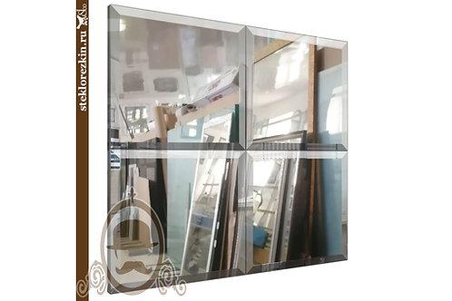 Зеркало №35.1 зеркальное панно квадрат и зеркальные плитки недорого под размер| Купить | Заказ | Стекло и Зеркала | Брянск