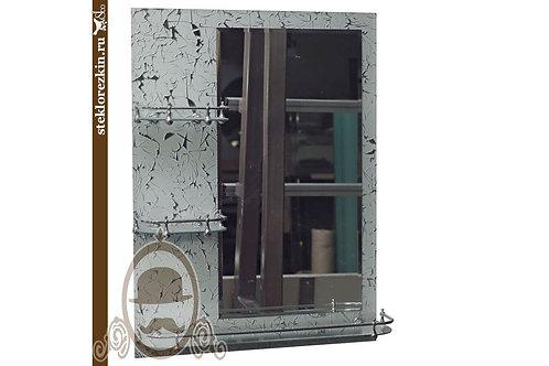 Зеркало №07 «Грация» (Колотый лёд, серебро)