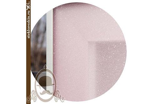 Стекло с плёнкой «Иней кристалл» (Розовое)
