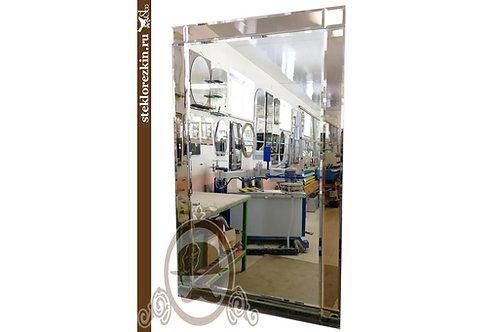 Зеркало №126 прямоугольное с рамкой из зеркала бронза в прихожую | Купить | Заказ по моим размера | Стекло и Зеркала | Брянск