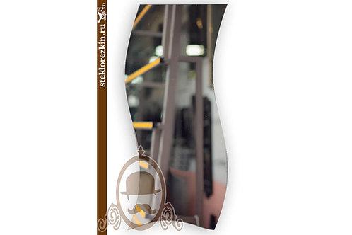 Зеркало №153 криволинейная резка кромка недорогое простое на стену | Купить | Выбрать из наличия | Стекло и Зеркала | Брянск