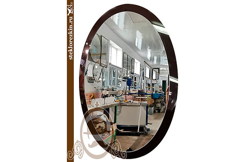 Зеркало №139.2 (Лакобель, бордово-коричневое)