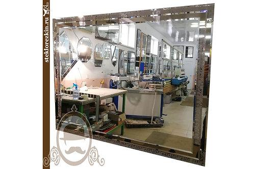 Зеркало №120 тройное с узором Иви Вьюн бронза горизонтальное | Купить | Заказать свои размеры | Стекло и Зеркала | Брянск