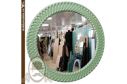 Зеркало №96 со специальным багетом без стыков цвет мятно-ментоловый в коридор | Купить | На заказ | Стекло и Зеркала | Брянск