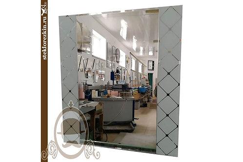 Зеркало №70 прямоугольной формы ванную коридор узорчатым стеклом Фуджи белое | Купить | Заказать | Стекло и Зеркала | Брянск