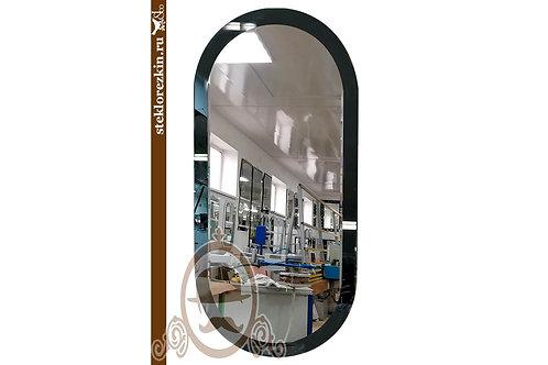 Зеркало №159.4 эллипс овальное цветное цвета Графит в квартиру дом | Купить | Выбрать и заказать | Стекло и Зеркала | Брянск