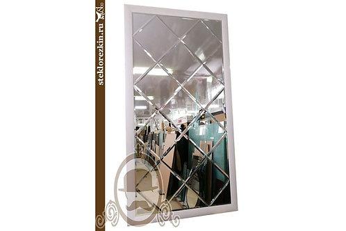 Зеркало №88 зеркальное панно в багете прямоугольное зеркальные плитки ромбы | Купить | Заказать | Стекло и Зеркала | Брянск