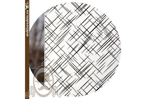 Зеркало узорчатое «Лабиринт диагональ» (Серебряное)