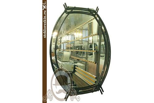 Зеркало №80 овальное в металлической рамке стиль Вестерн в бар студию original | Купить | Сделать | Стекло и Зеркала | Брянск