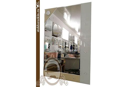 Зеркало №27.2 (Лакобель, бежево-белое)