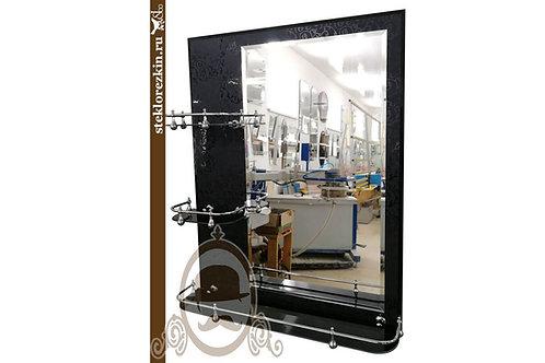 Зеркало №71 (Иви чёрное, 3 полки)
