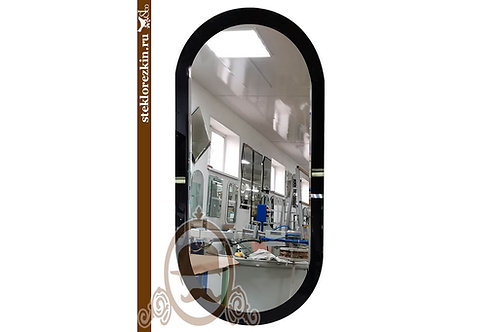 Зеркало №159.2 современное овальное чёрное Лакобель в офис | Купить | Продажа юридическим лицам | Стекло и Зеркала | Брянск
