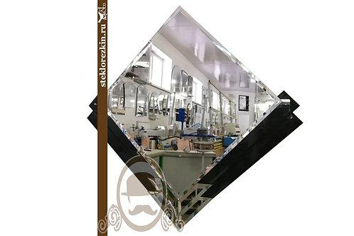 Зеркало №86.3 оригинальное наугольник чёрный декор Лакобель дизайнерское | Купить | Изготовление | Стекло и Зеркала | Брянск
