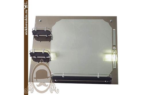 Зеркало №22 (бронза, 3 полки, декор)