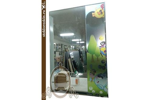 Зеркало №79 фацетное прямоугольное зеркало для детской комнаты рисунок Смешарики | Купить | Заказ | Стекло и Зеркала | Брянск
