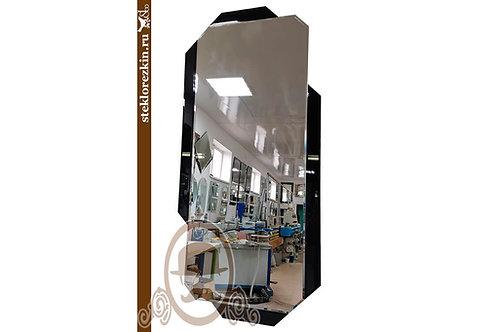 Зеркало №162.2 длинное соременное чёрная окантовка с фацетом в зал | Купить | Посмотреть каталог | Стекло и Зеркала | Брянск