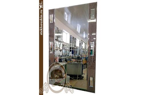 Зеркало №130 на стену узора Иви Вьюн бронзового цвета | Купить | Изготовить под размер на заказ | Стекло и Зеркала | Брянск