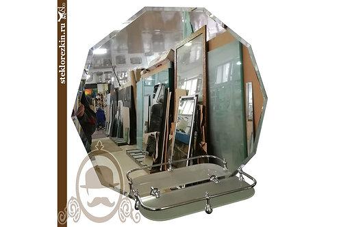 Зеркало №34.3 десять углов и граней со стеклянной полочкой | Купить | Сделать по размеру на заказ | Стекло и Зеркала | Брянск