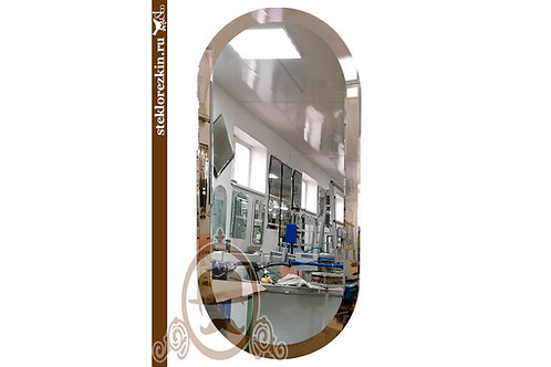 Зеркало №159.3 красивое закруглённое эллипс бронзовое навесное | Купить | Для организаций юрлиц | Стекло и Зеркала | Брянск