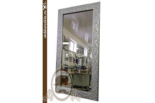 Зеркало №125 зеркало в багетной раме серебристо серого цвета | Купить | Индивидуальный размер | Стекло и Зеркала | Брянск