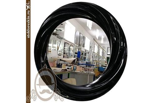Зеркало №93 в бесшовной багетной рамке цвет чёрный с фактурой скручивание | Купить | Заказать | Стекло и Зеркала | Брянск