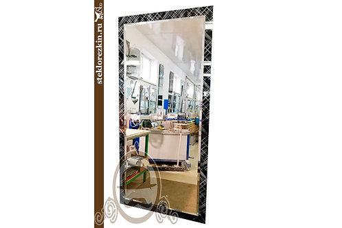 Зеркало №128 с рамкой узором Лабиринт диагональ Созвездение чёрное в прихожую | Купить | Заказ | Стекло и Зеркала | Брянск
