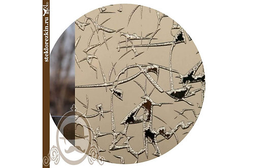 Зеркало узорчатое «Колотый лёд» лед, бронзовое, бронза, коричневый, бежевый | Резка по размеру | Стекло и Зеркала | Брянск