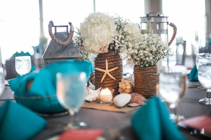 Rustic Beach Wedding Centerpiece