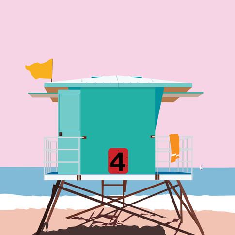 Lifeguard Tower Print