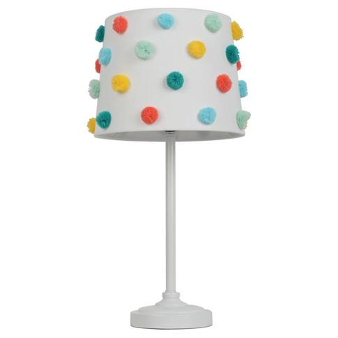Pom Pom Shade Table Lamp