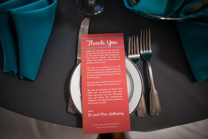 Thank You and Menu Card