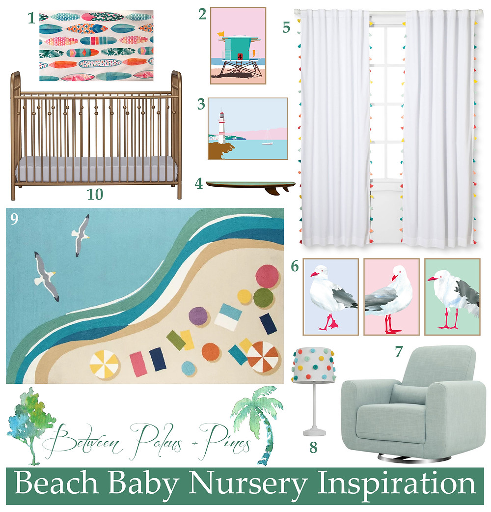 Beach Baby Nursery Inspiration