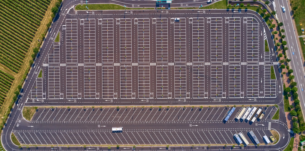 Aerial Parking Lot View