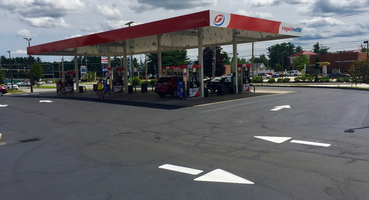 Gas station sealcoating