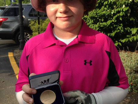 William takes 2nd Place in Sub Regional Drive Chip and Putt