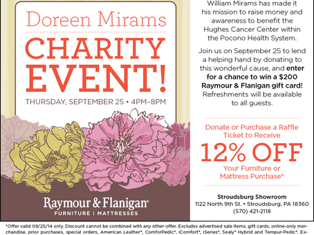 Raymour & Flanigan Hosting Charity Event For My Charity