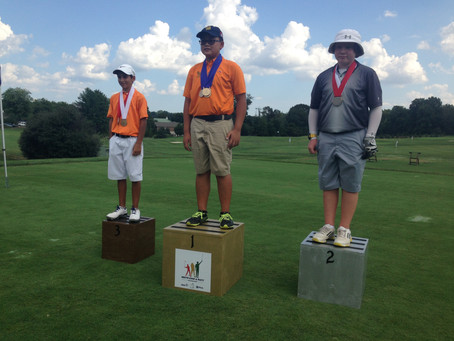 William takes 2nd place at the PGA Drive Chip and Putt Regional