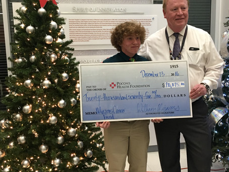 William donates $20,075 to help cancer patients