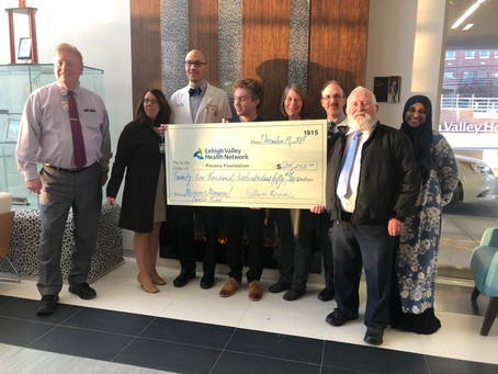 William donates over $25,000 to Hughes Cancer Center